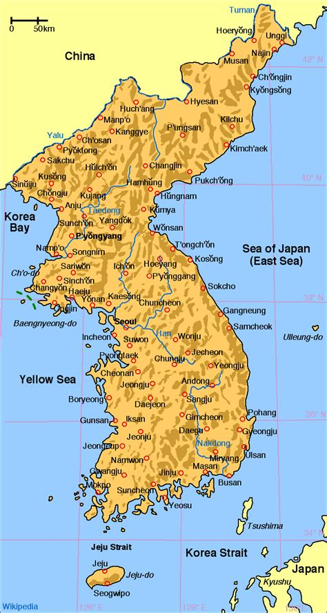 where is south korea on the map korea wikimedia commons