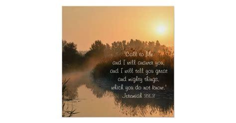 bible verse jeremiah  perfect poster zazzle