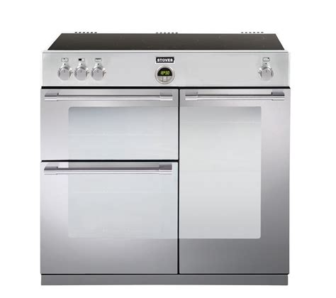 kitchen range with induction hob buy stoves sterling 900ei electric induction range cooker stainless steel free delivery currys
