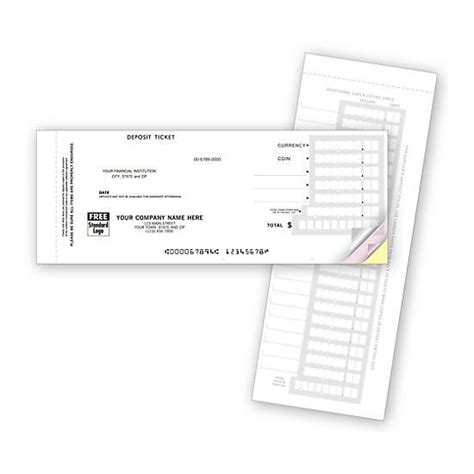 carbonless deposit ticket books quick scan custom product details designsnprint
