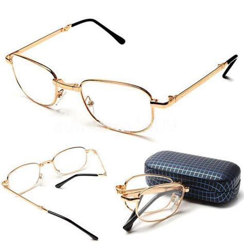 unisex folding foldable rimmed reading glasses fold up