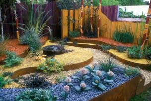 Raised Garden Beds Australia - dry gardening with an australian theme landscaping xeriscaping raised beds in copper