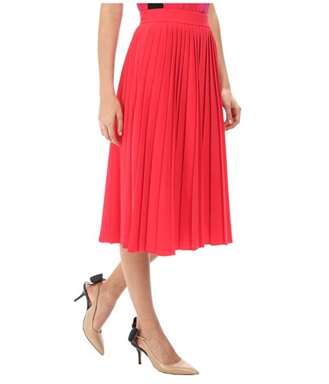 Aladin Pleats kate spade accordion pleat crepe skirt in pink modesens