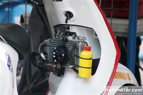 foto modifikasi vespa balap sistem pendinginan mesin modifikasi balap vespa 4 tak