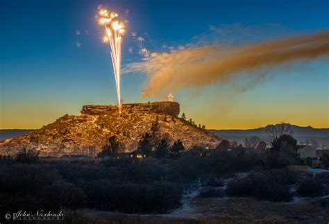 castle rock lights castle rock 2016 lighting fireworks 02 scenic