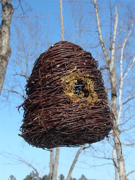 Wicker Bird Feeder Wicker Bird House Mondus Distinction Garden Decor