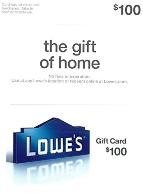 Lowes Gift Card Sale - lowe s 100 gift card arts entertainment party celebration giving cards certificates