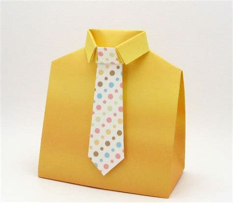 Origami Shirt Box - box template shirt and tie s day diy foldable