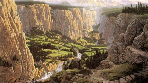 New Home Design Tv Show screenheaven middle earth rivendell ted nasmith cliffs
