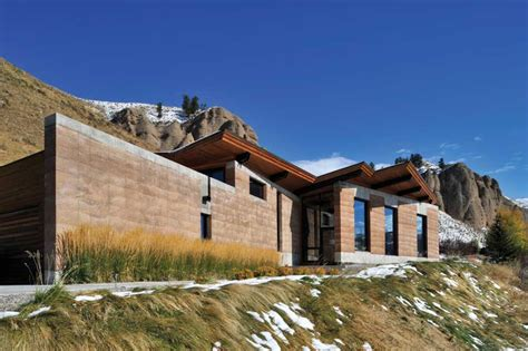 Mountainside Home Plans by Modern Earth A Rammed Earth House In Wyoming