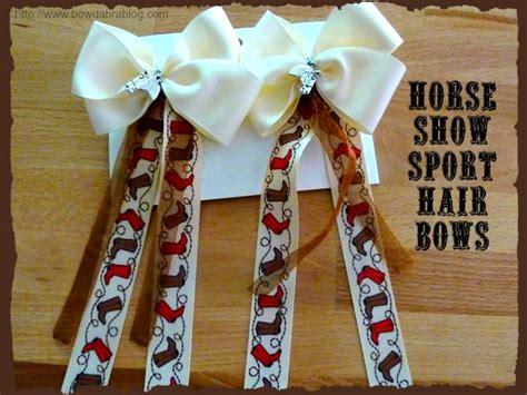 how to make a horse show bow how to make horse show hair bows 1000 images about horse