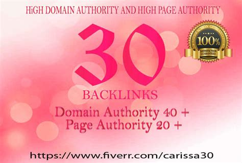 high domain authority  page authority seo