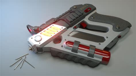 self defense electromagnetic nailgun yi sun 3d weapon