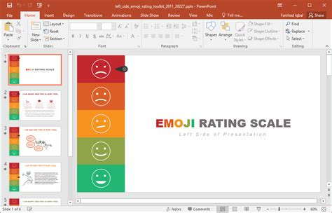 rating template animated emoji rating powerpoint template