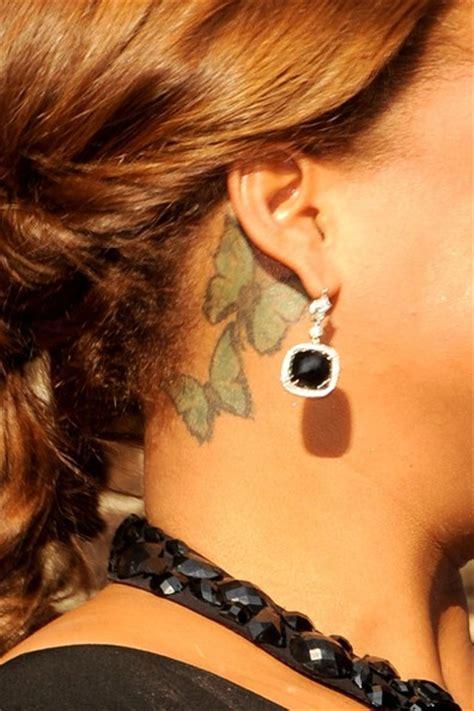 queen latifah tattoo neck queen latifah leaves letterman zimbio