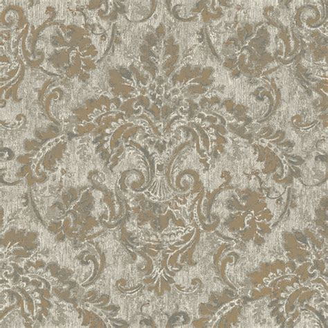 wallpaper grey and gold gold and grey antique damask wallpaper