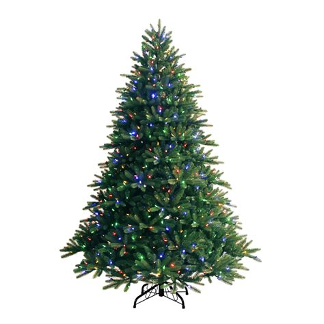 shop ge 7 5 ft pre lit fir artificial christmas tree with