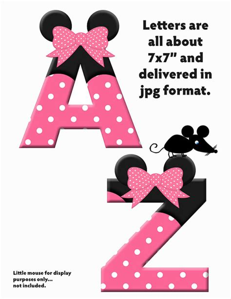 minnie mouse printable alphabet letters pink minnie mouse alphas alphabet letters design your
