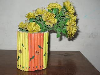 home craft ideas paper roll flower vase
