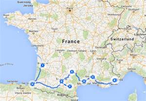 Map Of The South Of France by South Of France Tour Itinerary For Travelers