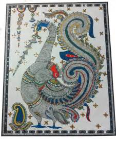 madhubani dancing peacock drawing by deepali varshney