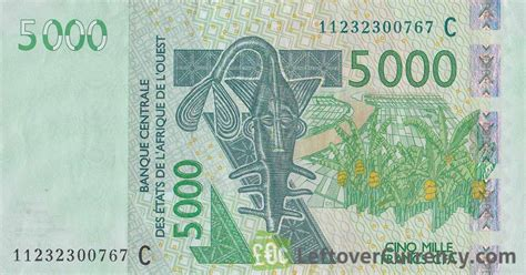 currency converter fcfa to usd 5000 francs banknote west african cfa exchange yours for