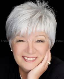 haircuts for gray haired 60 short hairstyles over 50 short grey hairstyle trendy