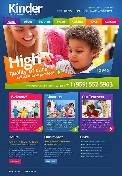 Primary School Drupal Template Drupal Timeline And Template Playgroup Website Templates
