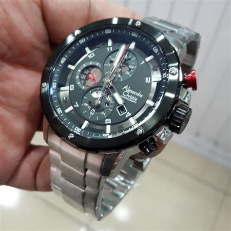 Jam Tangan Alexandre Chistie Ac 6388 Silver Ring Black jual alexandre christie ac 6453 white steel ring hitam
