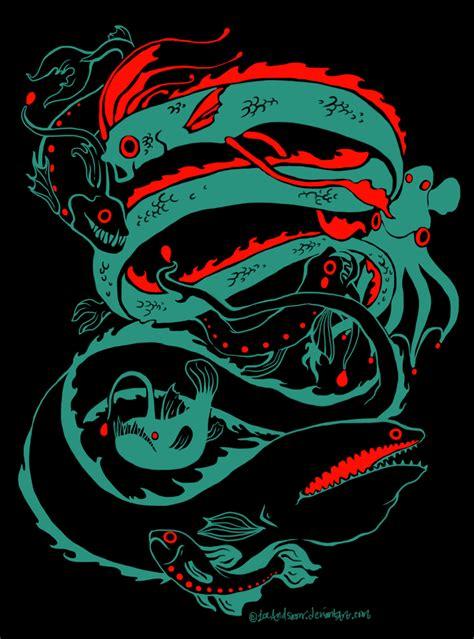 deep sea anglerfish by eurwentala on deviantart deep sea creatures design by iceandsnow on deviantart