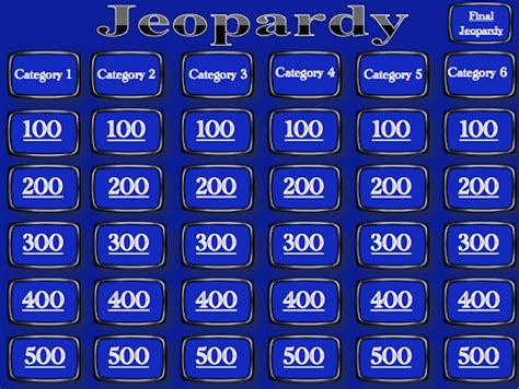 blank jeopardy template powerpoint blank jeopardy powerpoint template reboc info