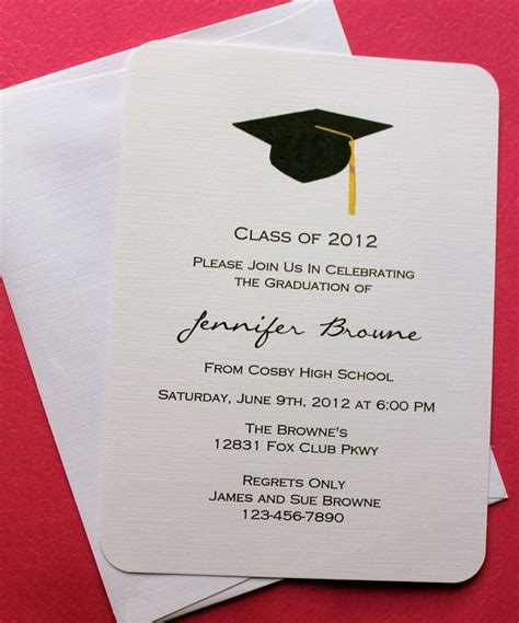 Minimalistic Graduation Invitation Card Template by Best 25 Graduation Invitations Ideas On