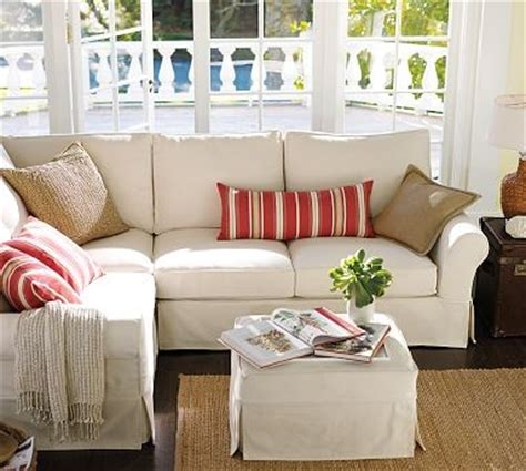 pottery barn l shaped couch pb comfort roll arm 3 piece l shaped corner sectional