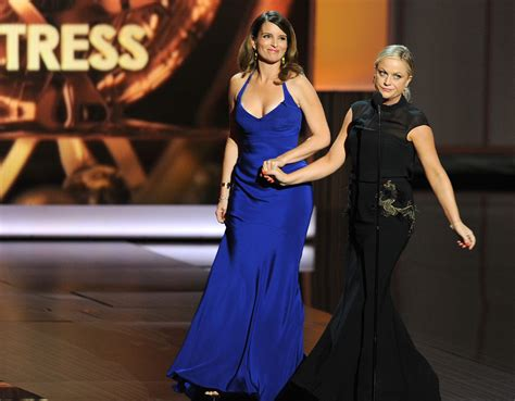 Poehler Wardrobe Malfunction by Poehler And Tina Fey Presented At The 2013 Emmy Awards