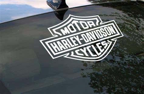 Window Decals Harley Davidson by Harley Davidson Logo Cut Rear Window Decal Motorcycle