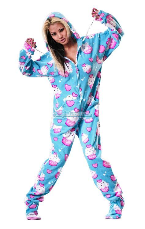 cupcakes pajamas cup cakes hooded footed pajamas pajamas footie pjs