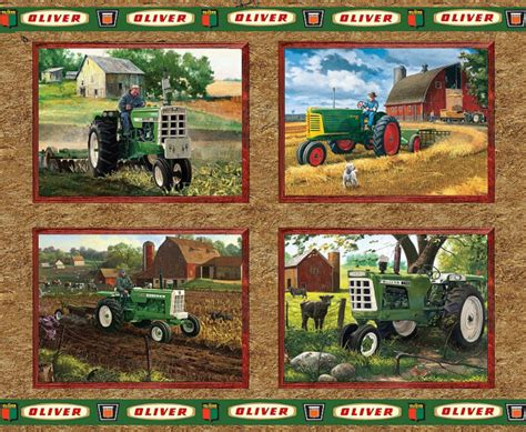 Landscape Fabric Tractor Supply Oliver Tractors Pillow Panel Fabric Sold By The Yard