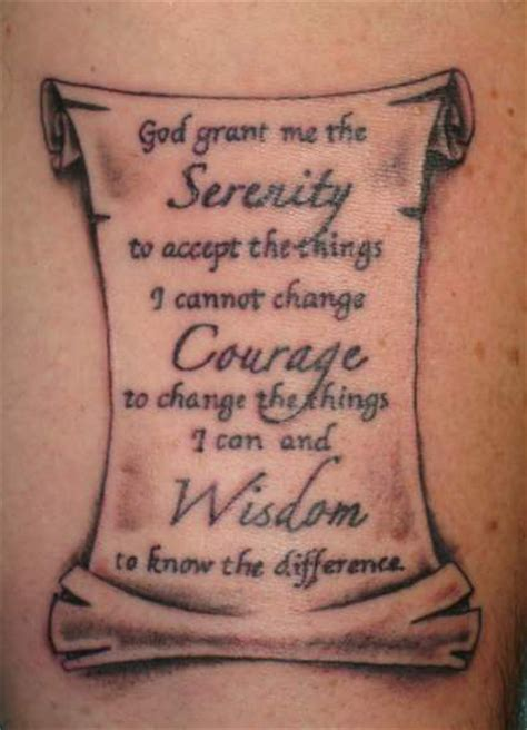 serenity prayer tattoo serenity prayer tattoo3d tattoos