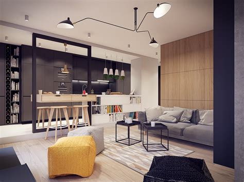 inspired apartment   creative layout  upbeat