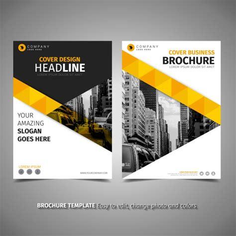 brochure template yellow yellow brochure template vector free download