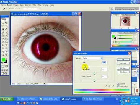 tutorial photoshop cs2 tutorial cambiar el color de los ojos con photoshop cs2