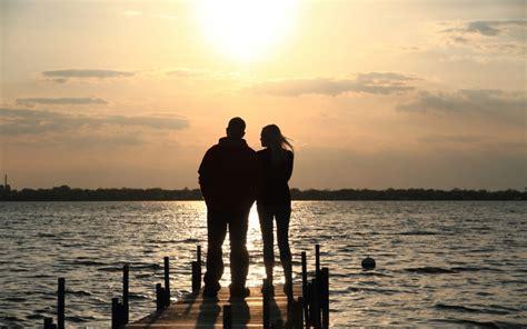 imagenes vintage de parejas pareja de novios al atardecer hd 1280x800 imagenes
