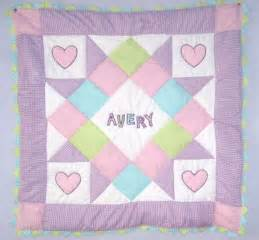 Personalized baby girl quilt pattern