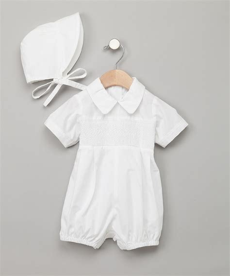Romper Bonnet 17 best images about baptism ideas for boys on rompers infants and seersucker
