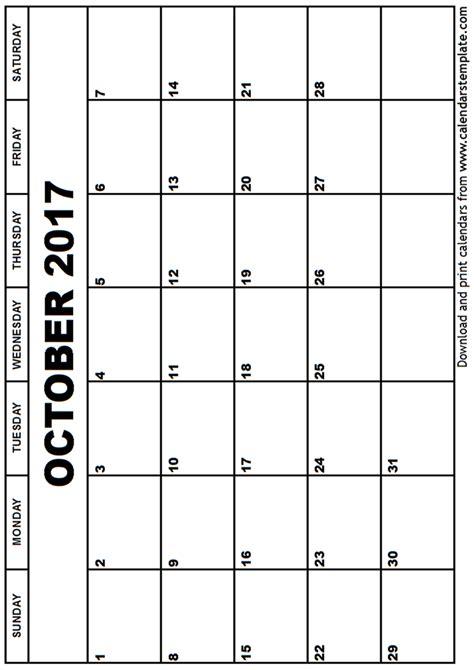 printable october 2017 calendar template october 2017 calendar template