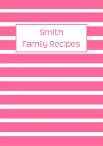 recipe binder cover page pink allaboutthehouse printables