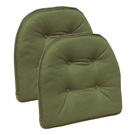 non tufted chair cushions gripper non slip 15 in x 16 in twill mastic green tufted