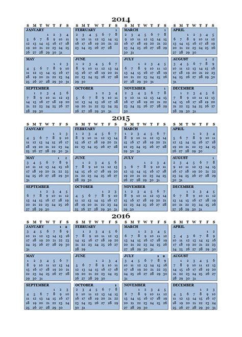 printable 3 year calendar 2013 to 2015 2015 three year calendar free printable templates