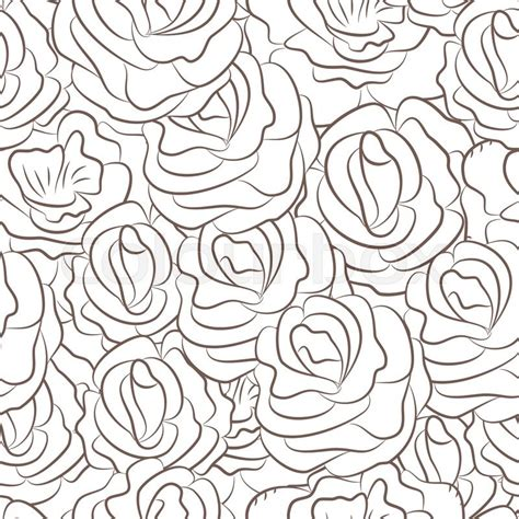 seamless pattern wiki seamless pattern with abstract rose flowers vector