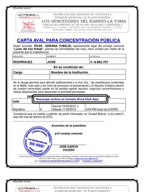 formato de una requsici 243 n consejo comunal formato de carta de residencia